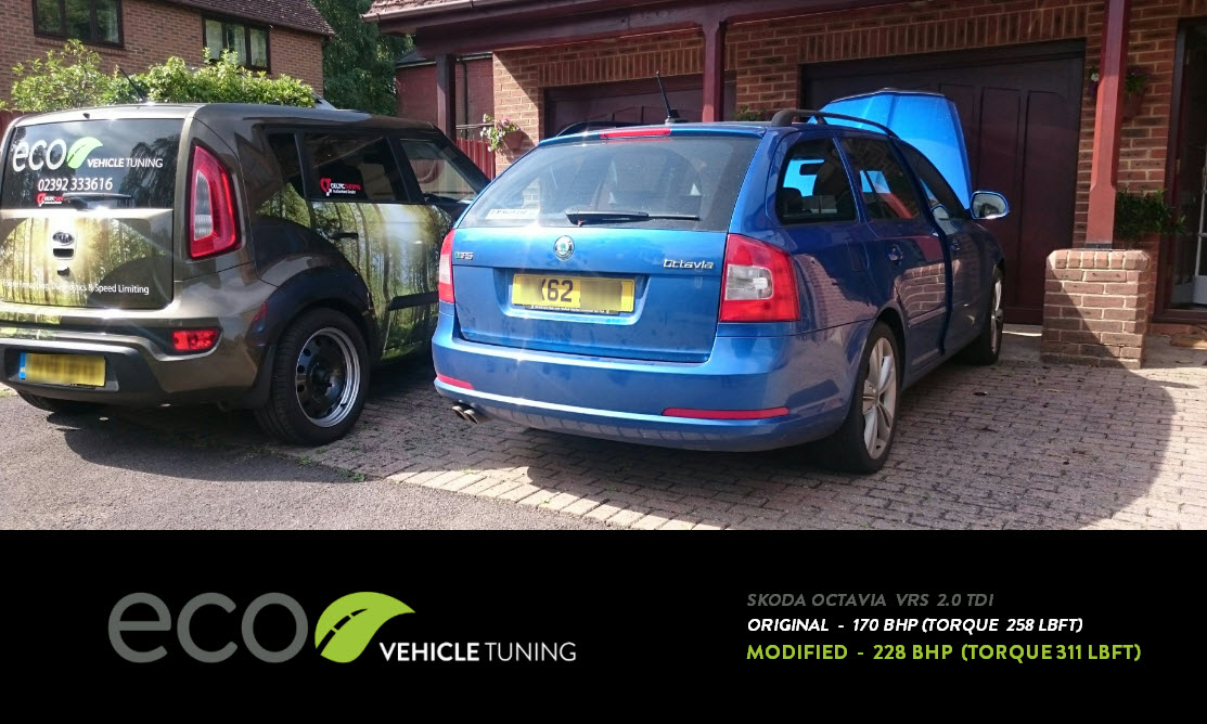 skoda octavia vrs 2.0 tdi ecu remap - eco vehicle tuning