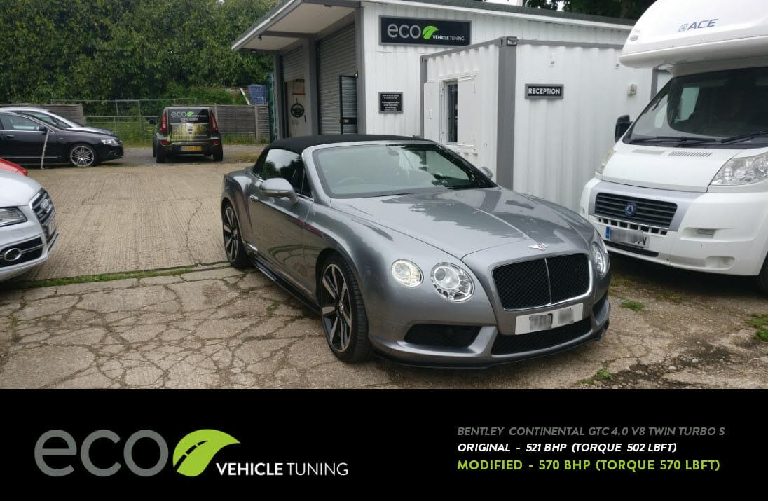 Bentley Continental 4 0 V8 Twin turbo S ECU Remap - Eco Vehicle Tuning