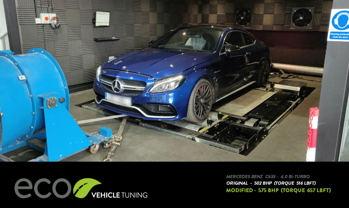 Mercedes C63s (W205) 4 0 Bi-Turbo ECU Remap - Eco Vehicle Tuning