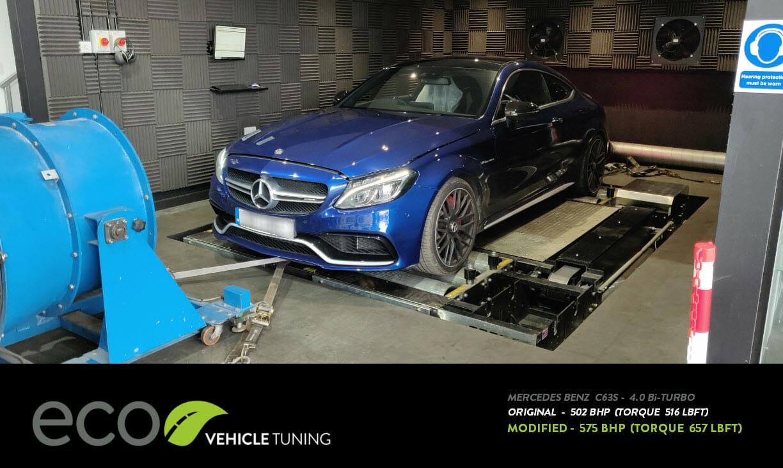 Mercedes C63s (W205) 4 0 Bi-Turbo ECU Remap - Eco Vehicle Tuning